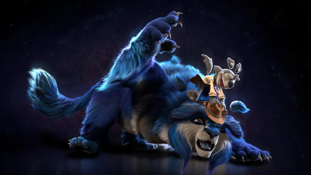 serie película animación blue y malone